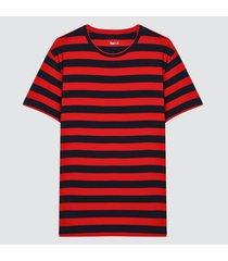 camiseta para hombre a franjas