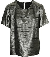 blouse ps by paul smith top col rond ample lamé swirl