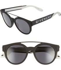women's givenchy 50mm round sunglasses - black