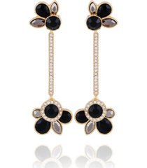 t tahari women's winter bloom post linear earring