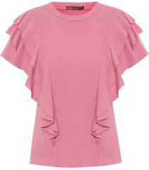 blusa feminina amelie - rosa