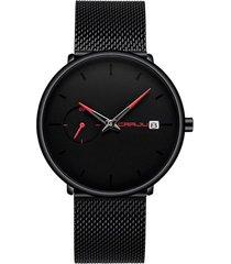 reloj hombre analogico casual negocios cuarzo crrju 2258 rojo