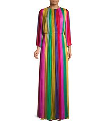 multicolor evening gown