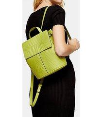 ellis lime green crocodile backpack - lime