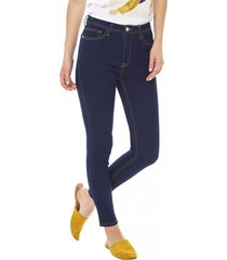 jeans highwaist mujer azul medio corona