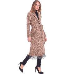 long animalier coat with belt