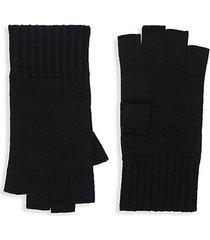 fingerless ribbed merino wool gloves