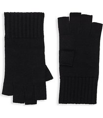 fingerless ribbed merino wool gloves