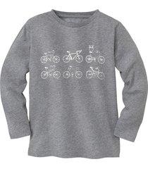 shirt met lange mouw fiets, grijs-gemêleerd 146/152