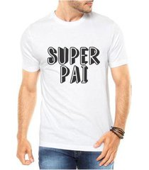 camiseta criativa urbana masculina super pai dia dos pais herói - masculino