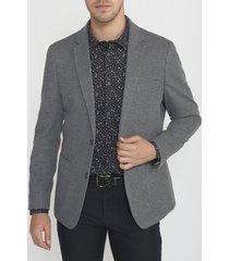 chaqueta casual microdiseño gris oscuro perry ellis