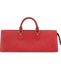 louis vuitton pre-owned sac triangle tote - red