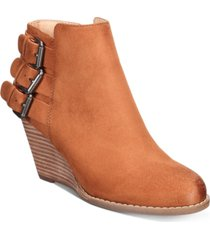 dv dolce vita ginalee wedge booties women's shoes