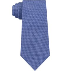 dkny men's slim micro-textured silk tie
