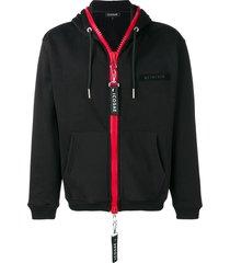 icosae chunky zip hoodie - black