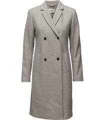 odelia coat wollen jas lange jas grijs modström