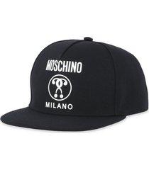 moschino double question mark baseball cap