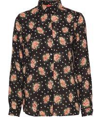 karolina blossomy overhemd met lange mouwen zwart whyred