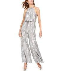 vince camuto embellished metallic jumpsuit