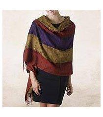 100% alpaca shawl, 'dahlias of tarma' (peru)
