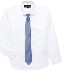 little boy's & boy's 2-piece shirt & tie set