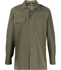 john richmond military shirt - green
