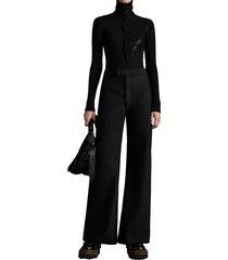 moncler palazzo trousers black