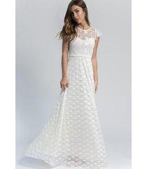 vestido largo blanco florencia casarsa sienna dress