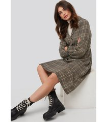 na-kd trend checked shirt dress - multicolor