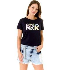 camiseta opera rock t-shirt azul escuro - azul marinho - feminino - algodã£o - dafiti