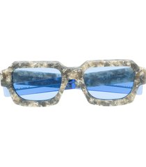a-cold-wall* pebble embellished sunglasses - neutrals