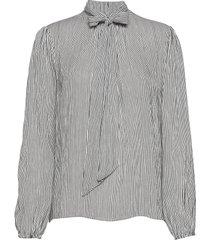 bowie blouse blus långärmad svart cream