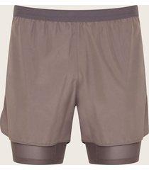 pantaloneta  deportiva unicolor gris l
