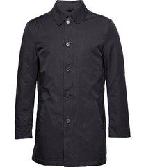 oxford jacket dunne lange jas blauw seven seas copenhagen