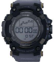 reloj gris-negro virox