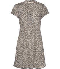 perfect print short dress korte jurk bruin odd molly