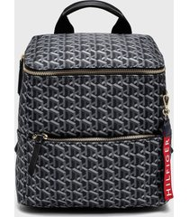 mochila mini backpack annada gris tommy hilfiger