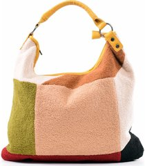 cartera patchwork lana amarillo