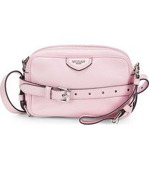 moschino women's belted leather shoulder bag - pink