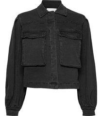 janice ls jacket jeansjacka denimjacka svart soft rebels