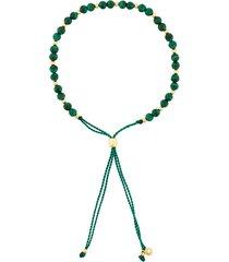 astley clarke beaded skinny bracelet - green