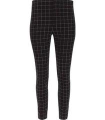 pantalon cigarette cuadros color negro, talla 10