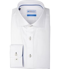 bos bright blue overhemd wit langemouw 20106we42bo/100 white