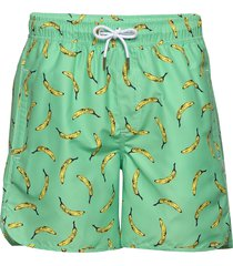 swim shorts sandhamn bananas badshorts grön dedicated