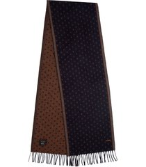 men's ted baker london dot print scarf, size one size - blue