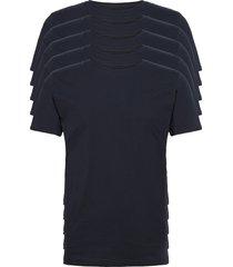 alder 5 pack basic tee - flat packe t-shirts short-sleeved blå knowledge cotton apparel