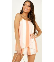showpo be without you playsuit in multi stripe - 12 (l) casual rompers