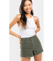 harper heritage high waist olive shorts - olive