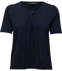 cardigan stickad tröja cardigan blå ilse jacobsen
