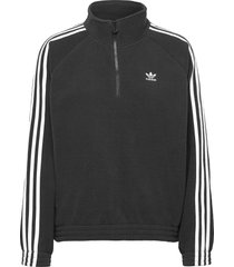 adicolor classics polar fleece half-zip sweatshirt w sweat-shirts & hoodies fleeces & midlayers svart adidas originals